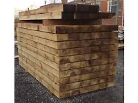 NEW PRESSURE TREATED FENCE FENCING POSTS, BOARDS & RAILS, LANDSCAPING SLEEPERS - COLLECTION/DELIVERY