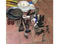 Home, Kitchen Kit, Job Lot, Plates Iron kettle toaster plates etc
