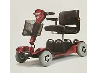 Sapphire Mobility Scooter . Red 4 wheel mobility scooter, perfect condition, ready to go .
