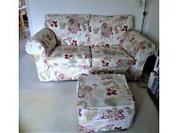 LIVING ROOM 2-SEATER SOFA, SINGLE SOFA AND MATCHING POUFFE FOR SALE