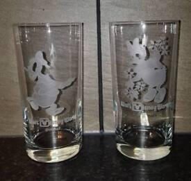 2 Walt Disney world glasses