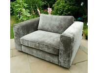 Cuddle Chair Grey BRAND NEW Armchair Snuggler for 2 - RRP 700 Living Room Furniture