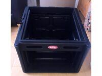 SKB 10u x 6u Roto Rack Console - Portable Rack Case with Locking Lid - Perfect condition!