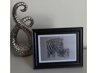 NEW - HIGH QUALITY A5 SIGNED PICTURE PRINT OF ORIGINAL PENCIL DRAWING OF ZEBRA & FOAL