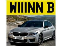Private number plate win B W111NNB WYNN BMW funny boss sexy name brown Ben OMG