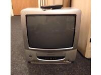 GOODMANS VCR CRT TV w/ REMOTE CONTROLLER