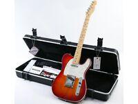 2012 Fender USA Deluxe Telecaster N3 Cherry Sunburst & Fender Case & Tags
