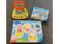 Peppa Pig Bundle Toys Jigsaw Puzzles Laptop Computer