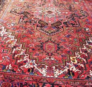 Heriz Antique Persian Rug 13.3 X 9.8 ft (404 X 295 cm)