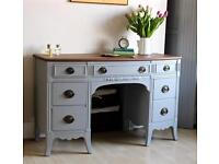 Stunning Vintage Shabby Chic Painted Dressing Table Dress. We deliver