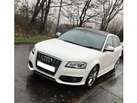 WHITE AUDI S3 SPORTBACK - PANORAMIC ROOF - PRIVACY GLASS - 2009