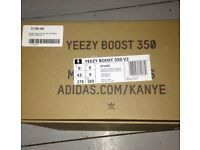 Adidas yeezy boost 350 v2 black/copper. U.K. Size 9