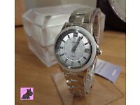Casio SHE-4512D-2AUER Ladies 'Sheen' Silver Tone Watch with Swarovski Elements - NEW - RRP £150