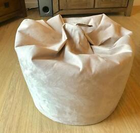 Faux Suede Cream/beige classic beanbag