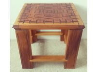 unique hand made side table