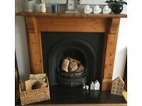 Gas Fire and surround. Cast Iron Gas Fire. See Pic