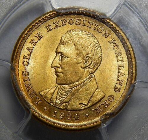 1904 PCGS MS64 LEWIS & CLARK GOLD DOLLAR COMMEMORATIVE