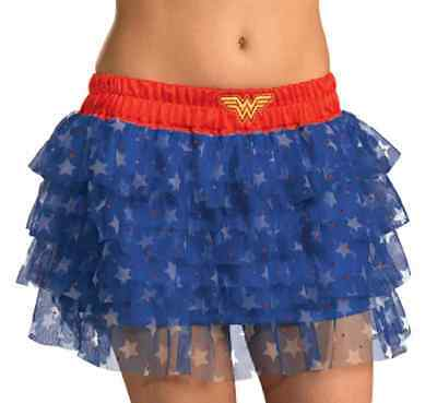 Wonder Woman Tutu Skirt Superhero Fancy Dress Up Halloween Costume Accessory ()