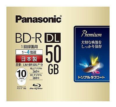 New! 10 Panasonic 3D Blu ray 50 GB BD-R DL Blu-ray DVD HD 4x Original MID Code