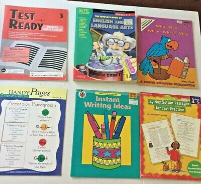 Language Arts Reading Writing Student Activity Books Grades 3-6  Lot of 6 Books