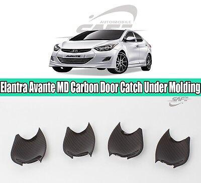 SAFE Carbon Door Catch Under Molding 4Pcs For Hyundai Elantra Avante 2011-2016