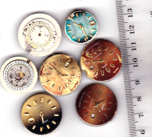 7 Automatic WOMEN WATCH some  with DIALS  Movements Steampunk Art parts *A529