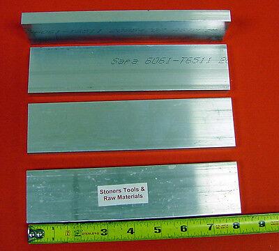 4 Pieces 12 X 1-34 Aluminum 6061 Flat Bar 8 Long Solid New Mill Stock .50