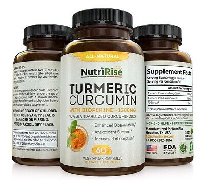Turmeric Curcumin With BioPerine  #1 Best Joint Supplement For Pain Relief