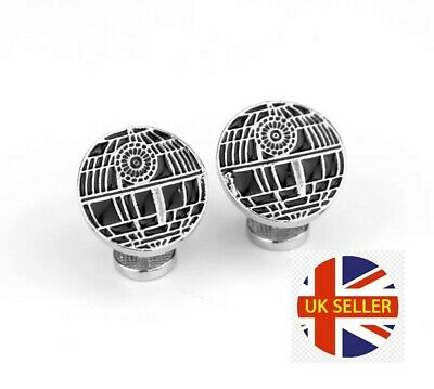 NEW Star Wars Death Star Darth Vader Symbol Cufflinks Geek Nerd Suit Gift 🇬🇧