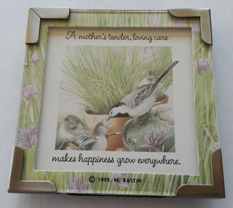 Vintage Marjolein Bastin Framed Chickadee Print Bird Mother