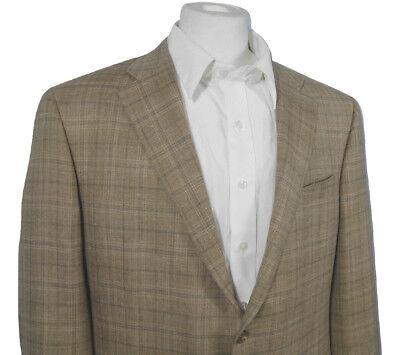 NEW $1295 Hickey Freeman Wool Silk & Linen Sportcoat (Blazer)!  48 Reg USA Made