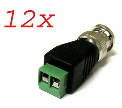 New 12 PCS Coax CAT5 To Camera CCTV BNC Video Balun Connector For CCTV Camera Consumer Electronics