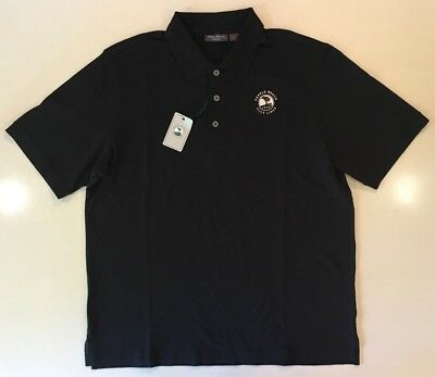 (Pebble Beach Collection Golf Links Golf Polo Rugby Collar Button Shirt Large)