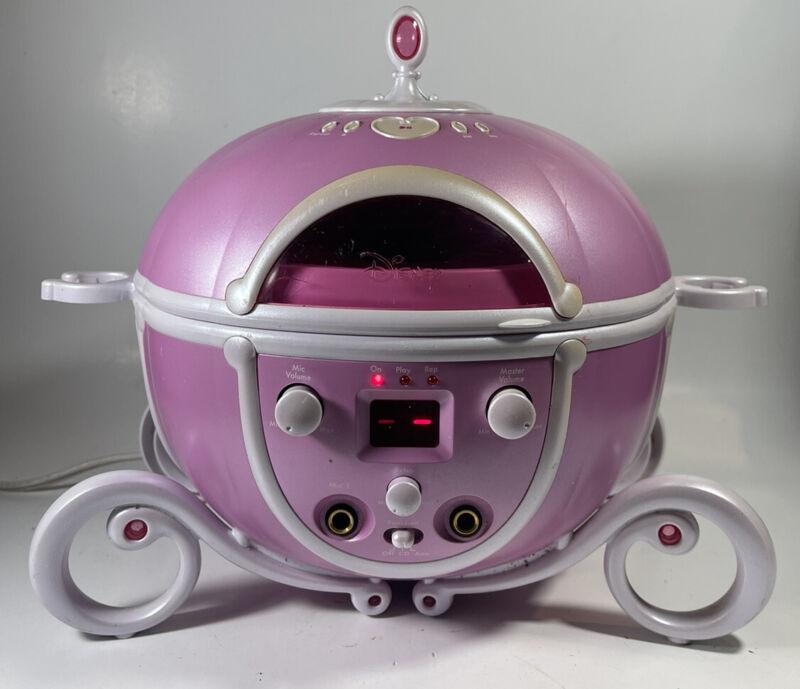 Disney Princess Cinderella Carriage CD PLAYER *NO MIC* (USED) TESTED