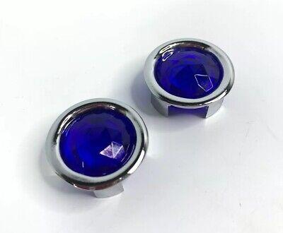 Blue Dot Inserts W/ Chrome Metal Rings Rims - Tail Light