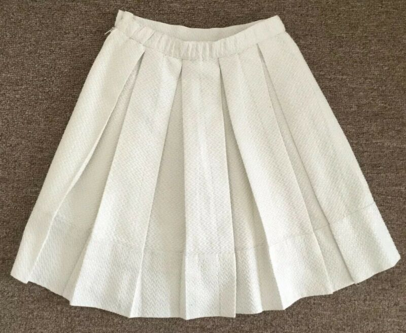 Pinco Pallino Girls Cream Knee Length Party Skirt Size 10