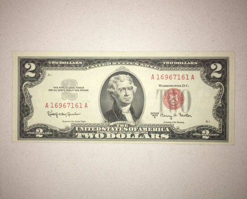 $2 Red Seal Uncirculated Condition 1963 NICE NOTE - SELLING FAST