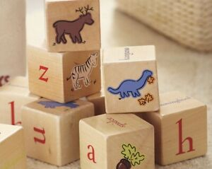 Pottery barn wooden alphabet blocks