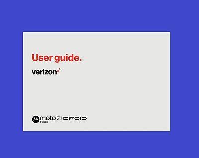 "Verizon Motorola Moto ""Z Force"" DROID Smartphone User Guide"