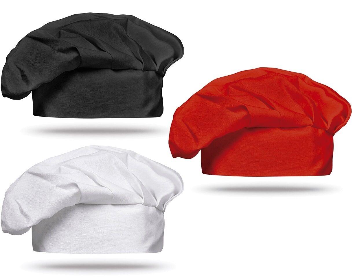 Kochmütze Mütze Kochhut Kopfbedeckung Weiß Rot Schwarz