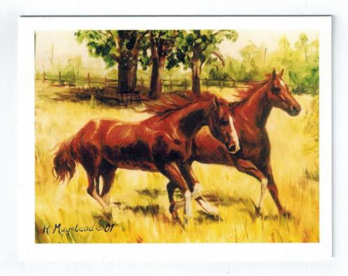 Brown Horse In Field Notecard Set 12 Note Cards 2 Horses By Ruth Maystead HOS-11