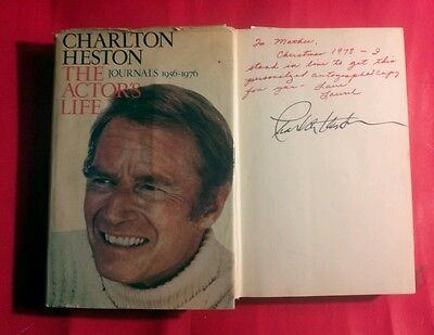 """""""Charlton Heston/The Actor's Life-Journals 1956-1976...1st edition! signed book!"""