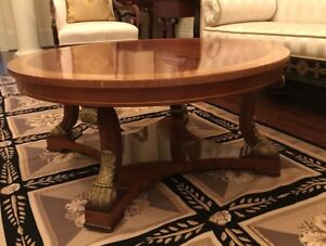 KINDEL Neoclassical Mahogany Cocktail Table