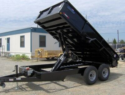 7x14 Heavy Duty Hawke Dump Trailer 6 Ton 12k New