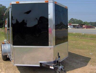 enclosed cargo motorcycle 2 bike trailer 7x10 finished interior toy hauler NEW