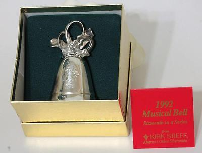 ANNUAL SILVER PLATE CHRISTMAS MUSICAL BELL Joy To The World KIRK STEIFF