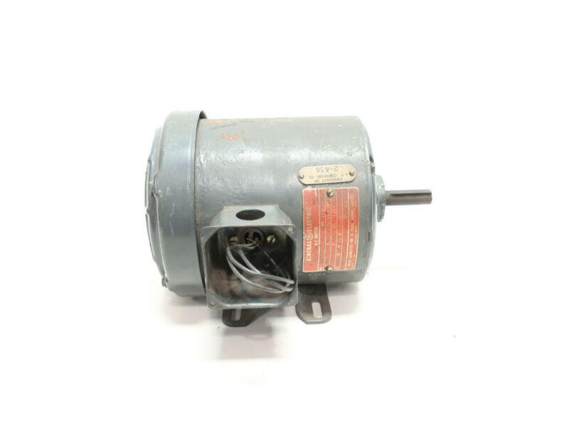 General Electric Ge 5K42FG781 56 3ph 1/4hp 1140rpm 208-220/440v-ac Motor