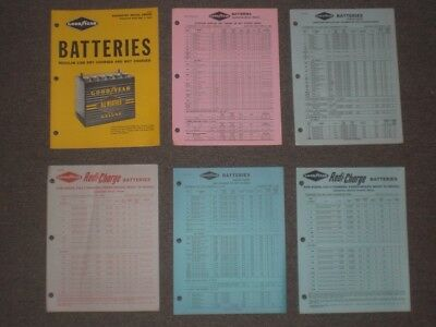 Goodyear Tire   Rubber Co Batteries Literature   Price Sheets 1963 1965