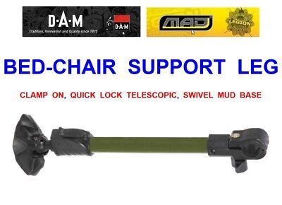 DAM MAD BED CHAIR SUPPORT LEG FOR PROLOGIC,JRC,NASH,BISON,CHUB,FOX,ABODE,TRAKKER