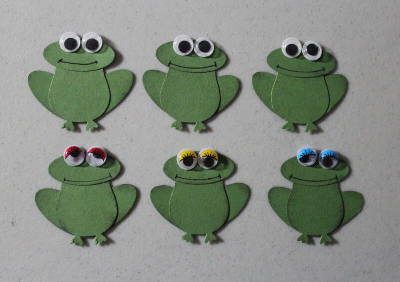 Stampin' Up Frog Punches Set of 6